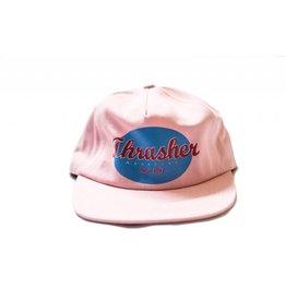 THRASHER THRASHER OVAL LOGO SNAPBACK PINK