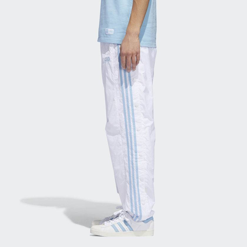 ADIDAS ADIDAS X KROOKED TRACK PANT WHITE CLEAR BLUE