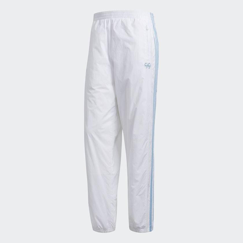 b73a35e2a5ec ADIDAS X KROOKED TRACK PANT WHITE   CLEAR BLUE - Bluetile Skateboards