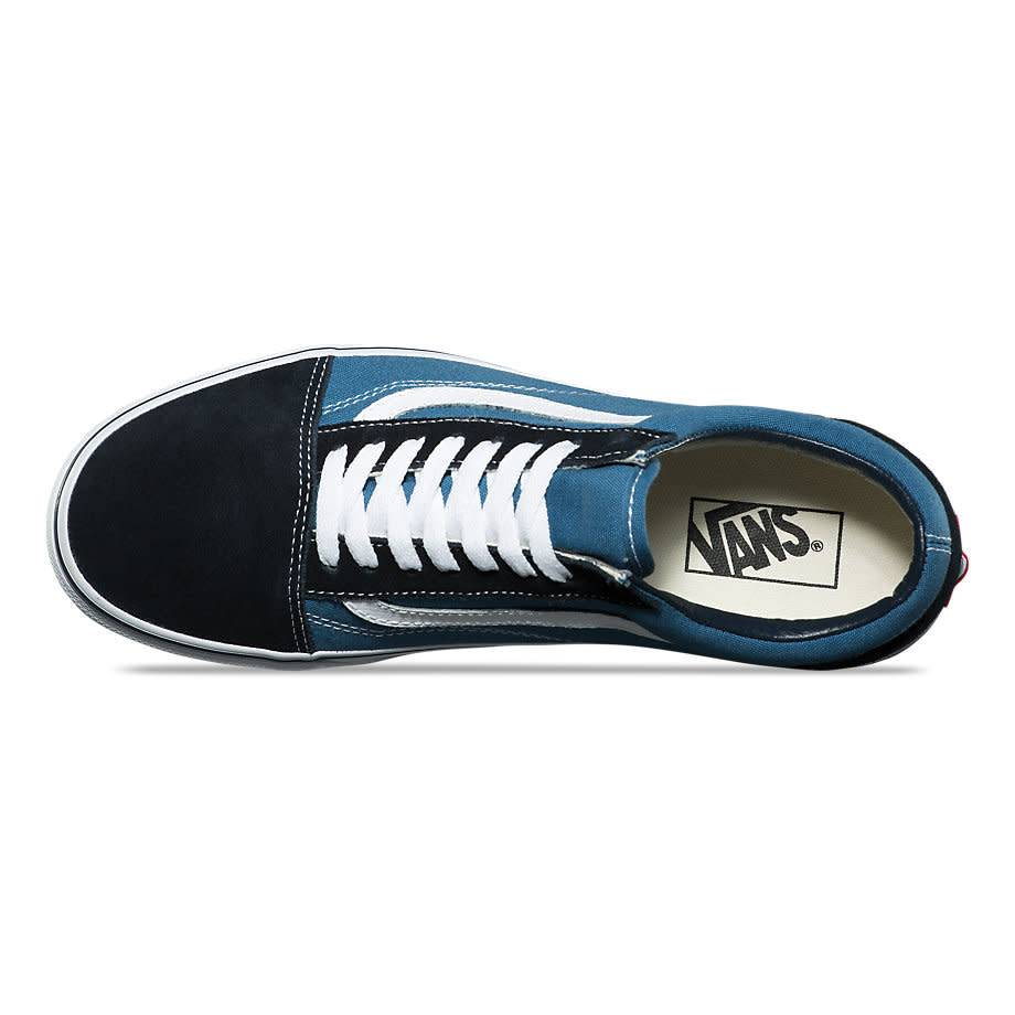 d182ac391a7 VANS OLD SKOOL NAVY   WHITE - Bluetile Skateboards