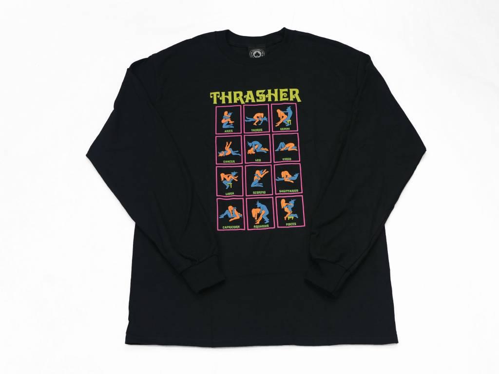 THRASHER BLACK LIGHT LONG SLEEVE BLACK - Bluetile Skateboards 4fed3f01252d