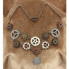 elope Multi Gear Necklace & Earrings