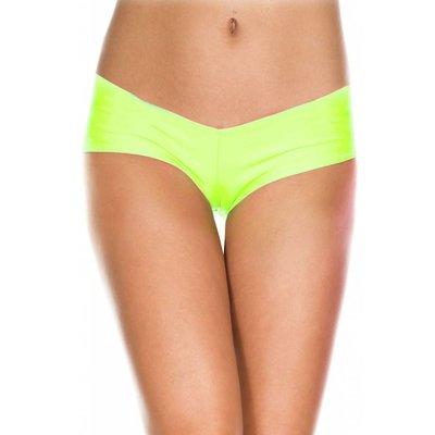 Music Legs Stretch Jersey Micro Mini Shorts Neon Green