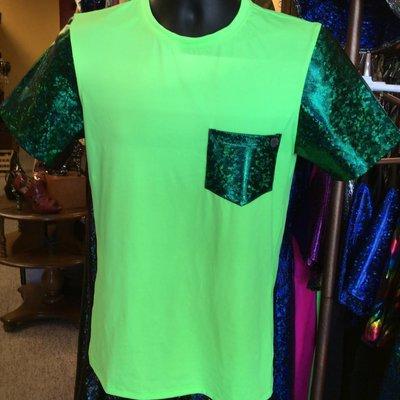 Sea Dragon Studio Mens Festival Tshirt, Emerald City/Lime