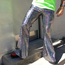 Sea Dragon Studio Mens Holographic Flares - Silver