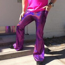 Sea Dragon Studio Mens Holographic Flares - Pink Your Poison