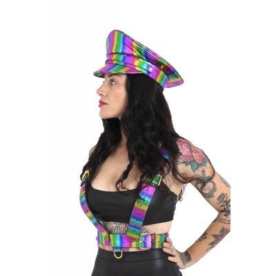 Holosexual Boogie Conductor Hat - Rainbow