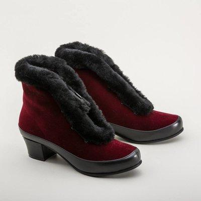 Royal Vintage Aspen Retro Winter Booties (Red/Black)