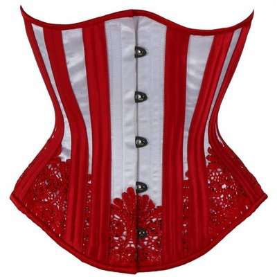 Timeless Trends White with Red Sparkle Corset