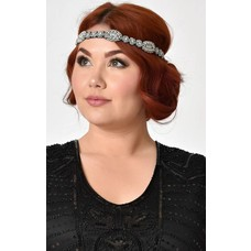 Unique Vintage Beaded and Rhinestone Headband