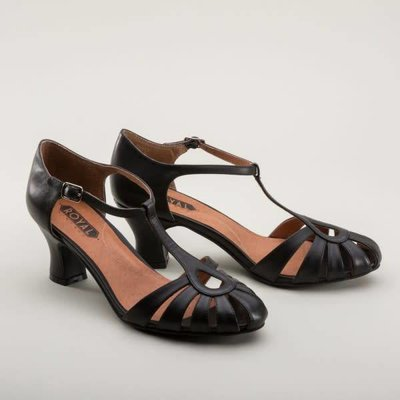 Royal Vintage Eve Art Deco Sandals, Black