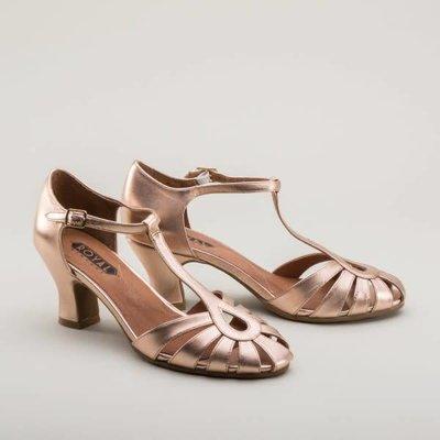 Royal Vintage Eve Art Deco Sandals, Rose Gold