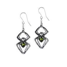 Alchemy England 1977 Emerald Venom Earrings