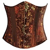 Brown Chinese Brocade Underbust - 20