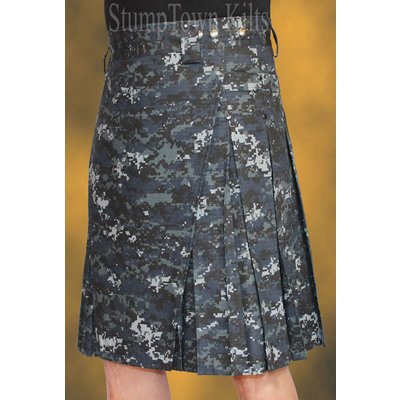 StumpTown Kilts Men's Cotton Ripstop Navy Digi