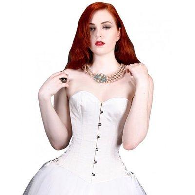 White Satin Bridal Overbust - 20M