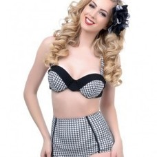 Unique Vintage Harlow Houndstooth Top