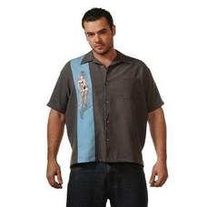 Steady Single Pin-Up Shirt, Charcoal