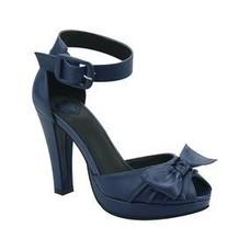 TUK Navy Peep Toe Ankle Strap