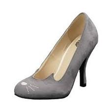 TUK Grey Microfiber Sophistikitty Bombshell Heel