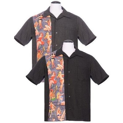 Steady Pin-Up Print Panel Shirt