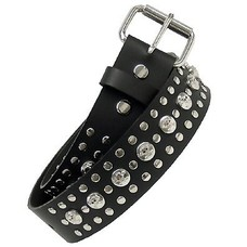 "Kookie Skulls & Rivets Belt (1-3/4"")"