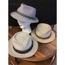 Tatum Varigated Raffia Unisex Hat