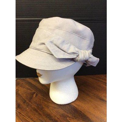 Eaux Claires Fabric Cap w/ Side Bow Ivory