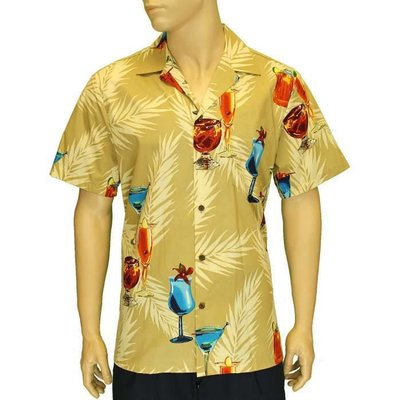 Aloha Party Drinks Cotton Shirt