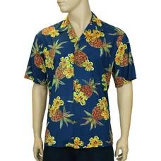 Hale Kahiki Pineapples Rayon Shirt