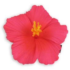 Hot Pink Small Hibiscus Clip
