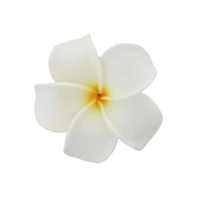 White Large Plumeria Clip