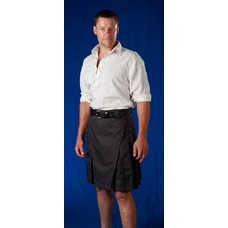 StumpTown Kilts Black Kilt w/ Antique Brass
