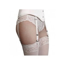 White Corset Garter Straps (set of 4)