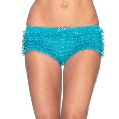 Leg Avenue Micromesh Lace Ruffle Tanga Short O/S