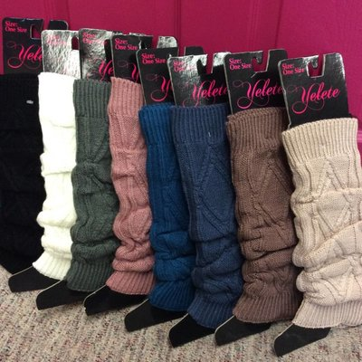 Yelete Ladies' Diamond Knit Leg Warmers