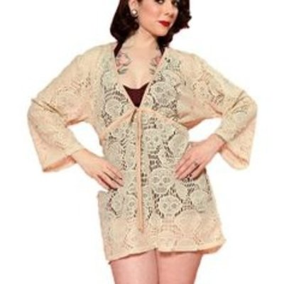 Steady Skull Lace Cover Up