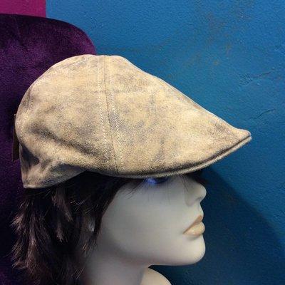 DeLux Hats Archetype Beige Leather Driver Cap