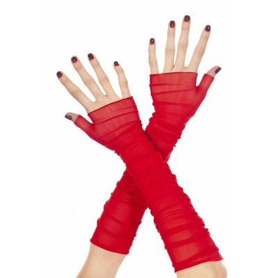 Music Legs Soft Mesh Fingerless Gloves