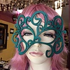 """Tom Banwell Designs """"Swirly"""" Leather Mask in Teal"""