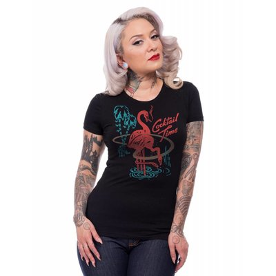 Steady Cocktail Time Women's Tee in Black