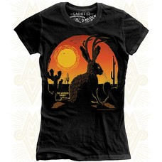 Maiden Voyage Clothing Co. Jackalope the Warrior Rabbit Ladies Tee