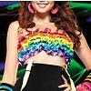 Leg Avenue Satin Ribbon Rainbow Ruffle Tube Top