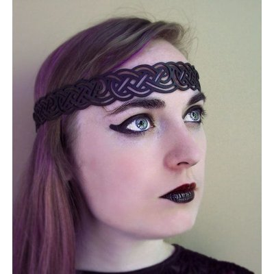 Tom Banwell Designs Celtic Knot Headwreath in Black Leather