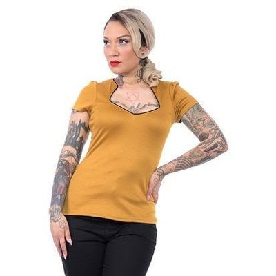 Steady Piped Sophia Top in Mustard