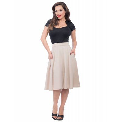 Steady Pocket High Waist Thrills Skirt in Stone