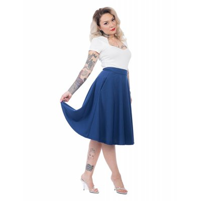 Steady Pocket High Waist Thrills Skirt in Royal