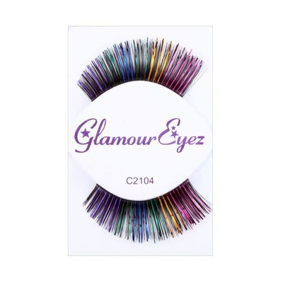 Eyelash Set-Blk w/ Multi Shine C2104