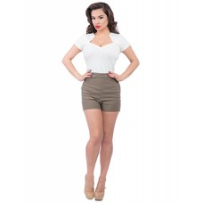 Steady Bombshell High Waist Shorts - Olive
