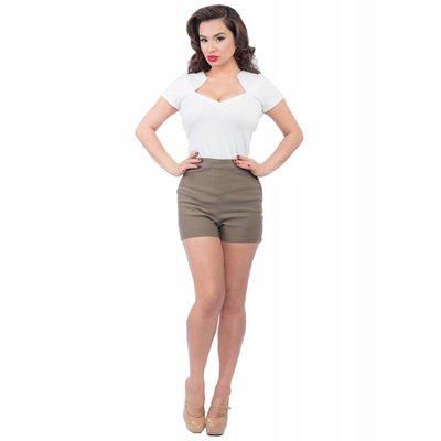 Steady Bombshell High Waist Shorts - Olive